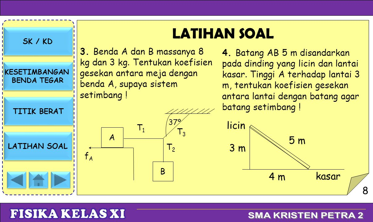 LATIHAN SOAL licin 5 m 3 m 4 m kasar