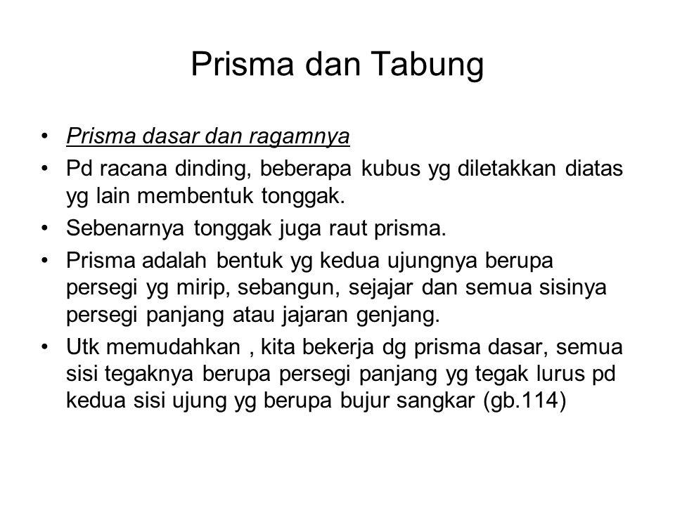 Prisma dan Tabung Prisma dasar dan ragamnya