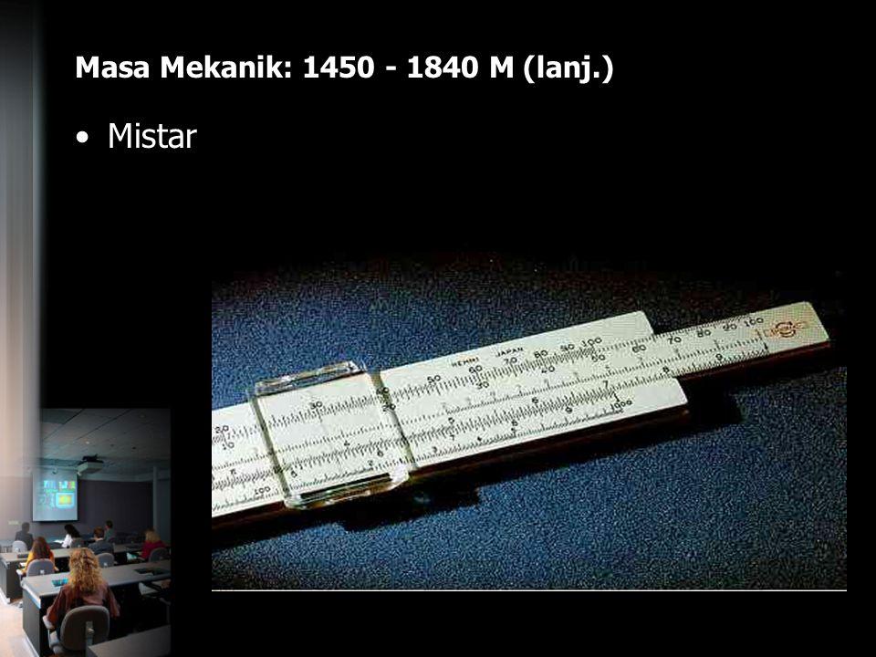 Masa Mekanik: 1450 - 1840 M (lanj.)