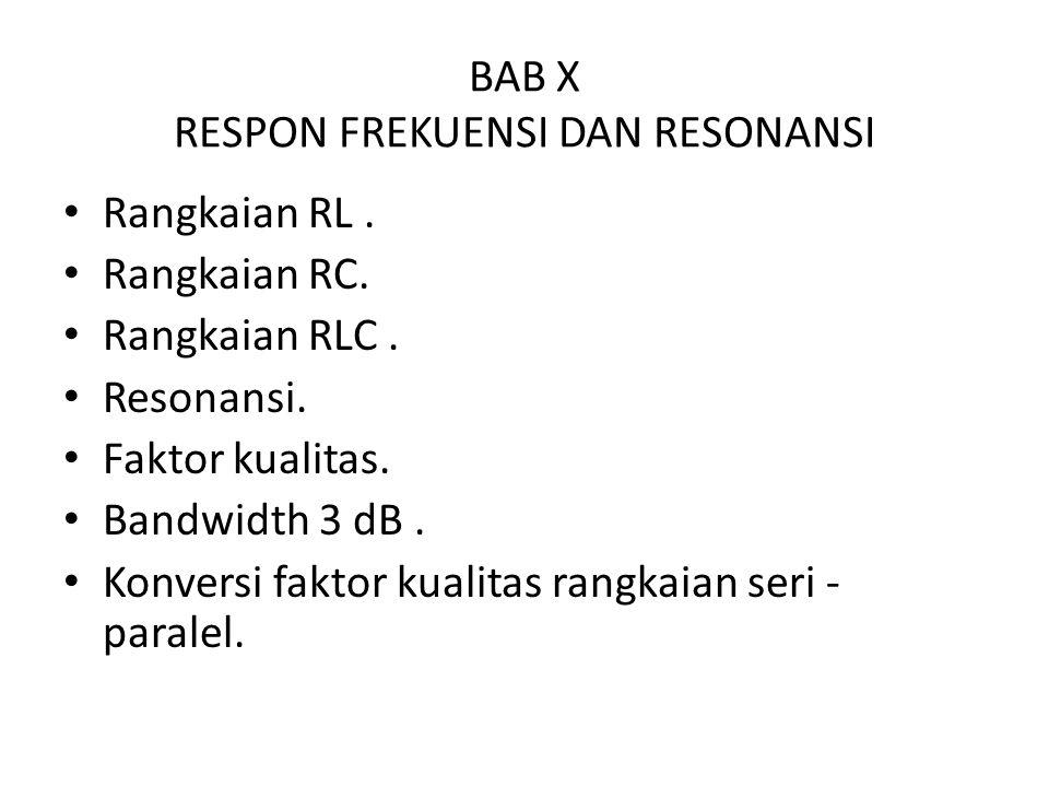 BAB X RESPON FREKUENSI DAN RESONANSI