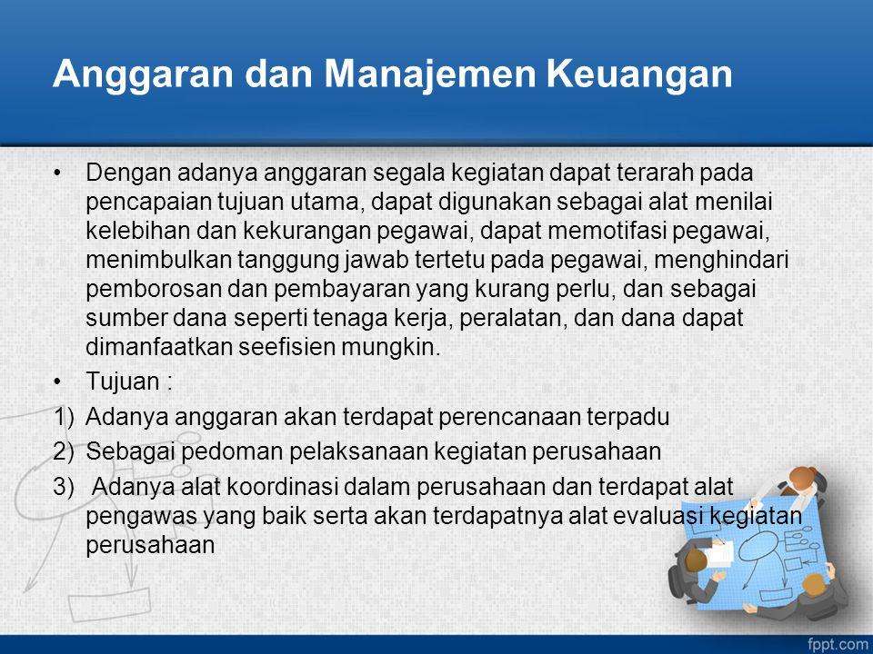 Anggaran dan Manajemen Keuangan