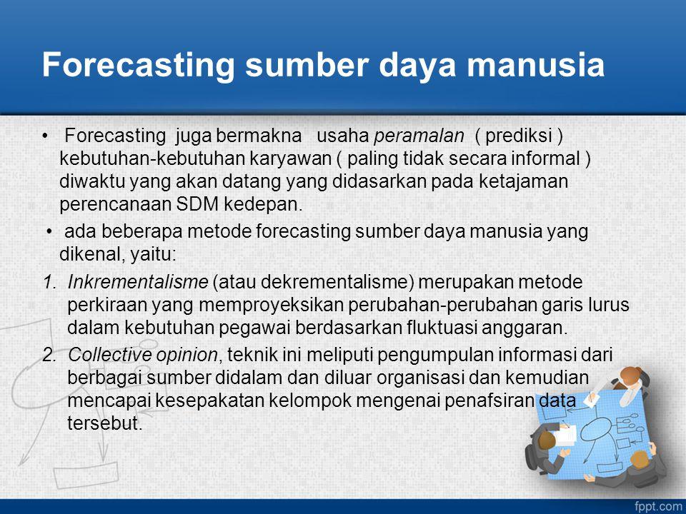 Forecasting sumber daya manusia