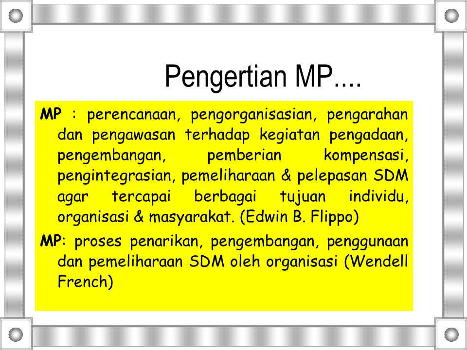 Pengertian MP....