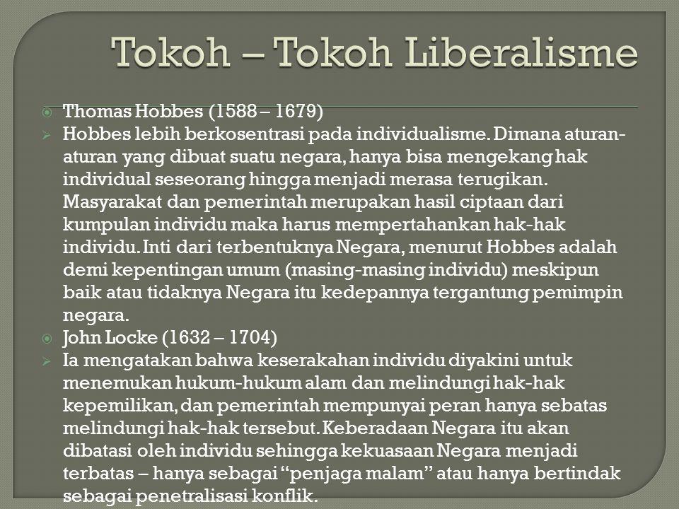 Tokoh – Tokoh Liberalisme