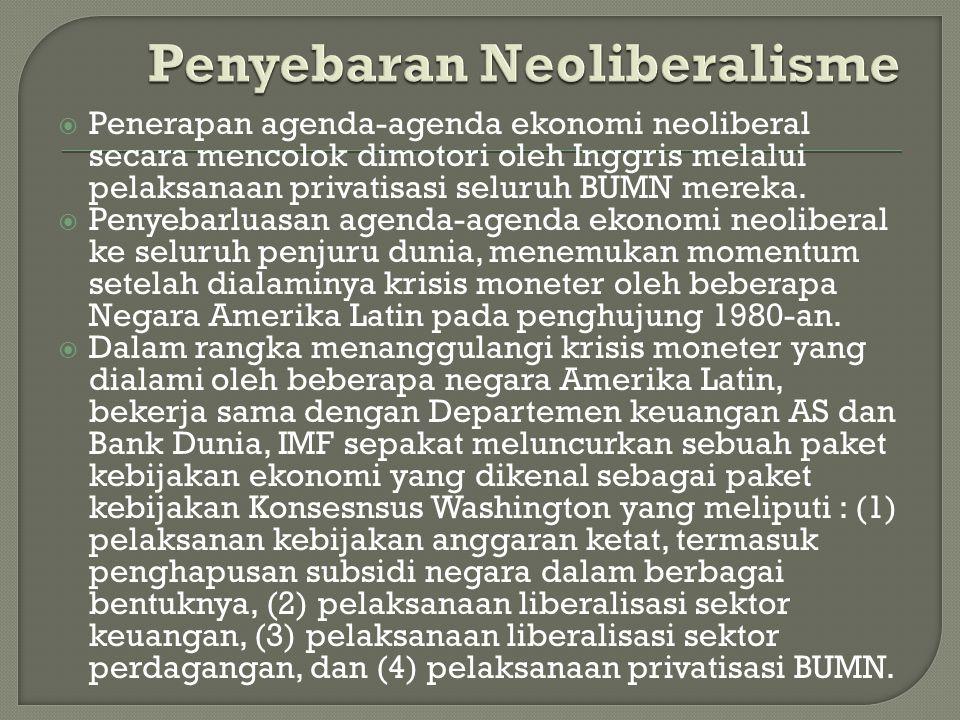 Penyebaran Neoliberalisme