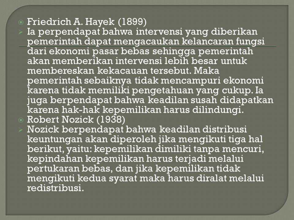 Friedrich A. Hayek (1899)