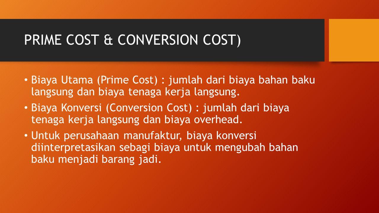 PRIME COST & CONVERSION COST)