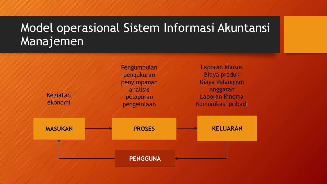 Model operasional Sistem Informasi Akuntansi Manajemen