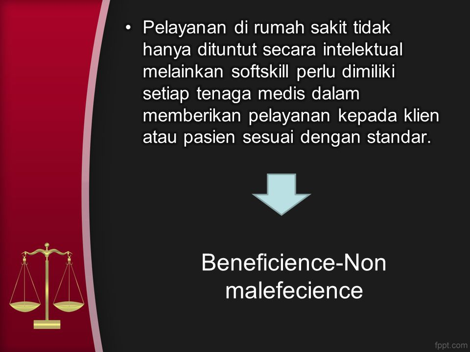 Beneficience-Non malefecience