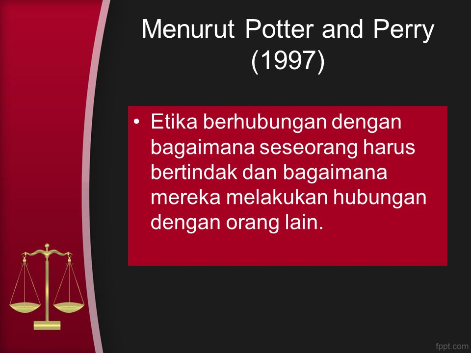 Menurut Potter and Perry (1997)