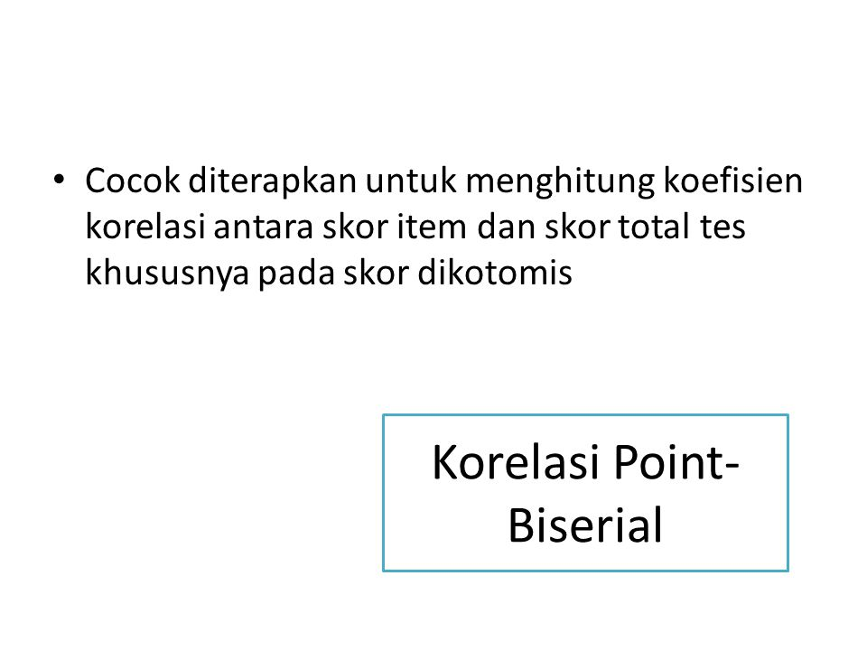 Korelasi Point-Biserial