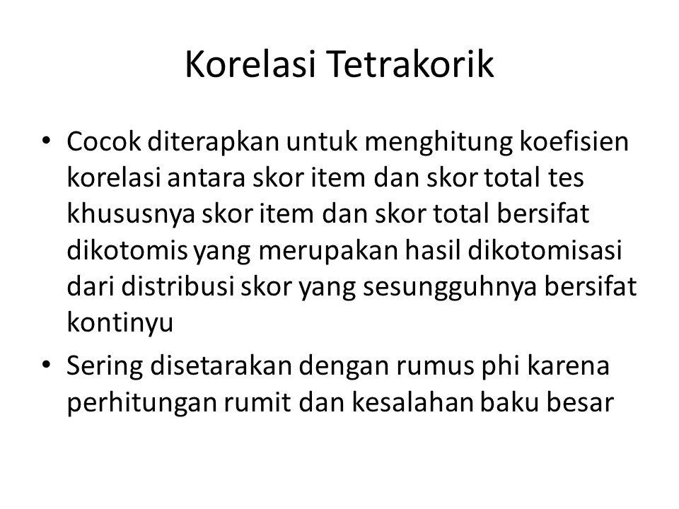 Korelasi Tetrakorik