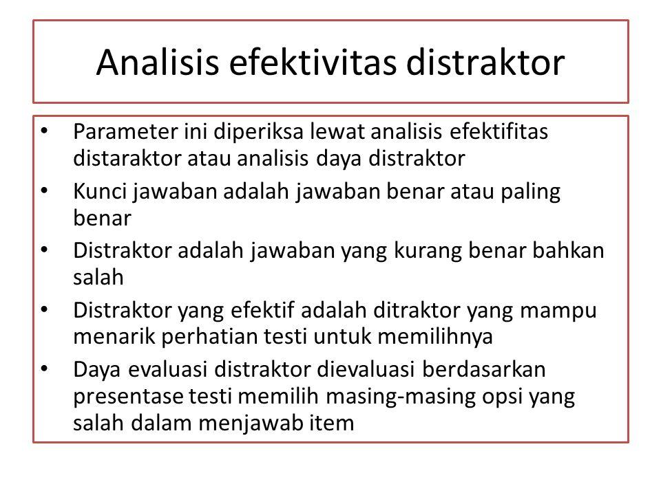 Analisis efektivitas distraktor
