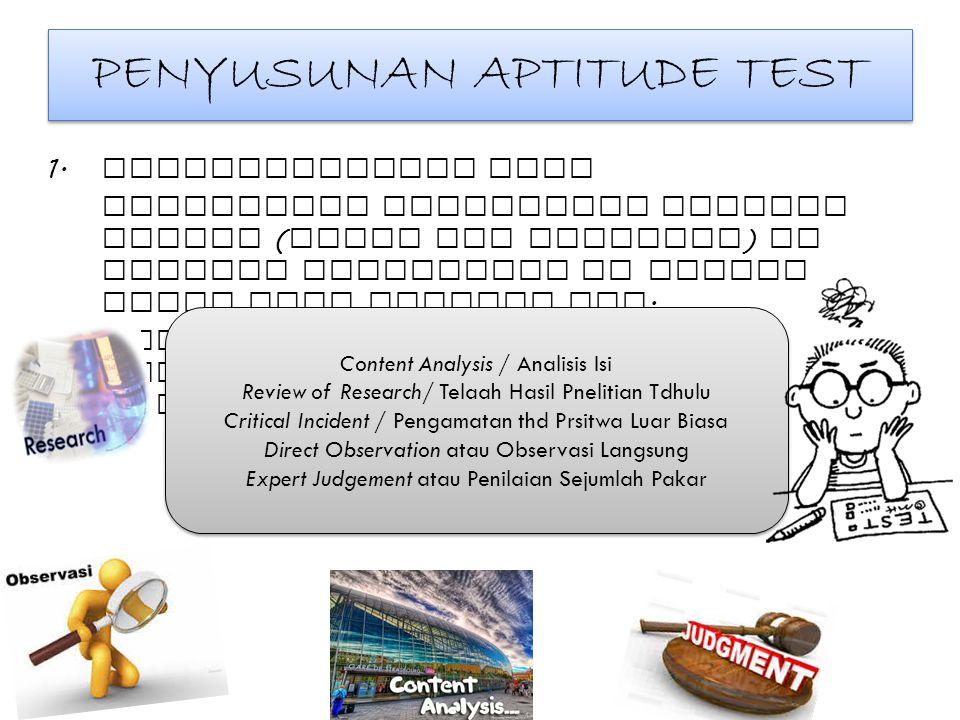 PENYUSUNAN APTITUDE TEST