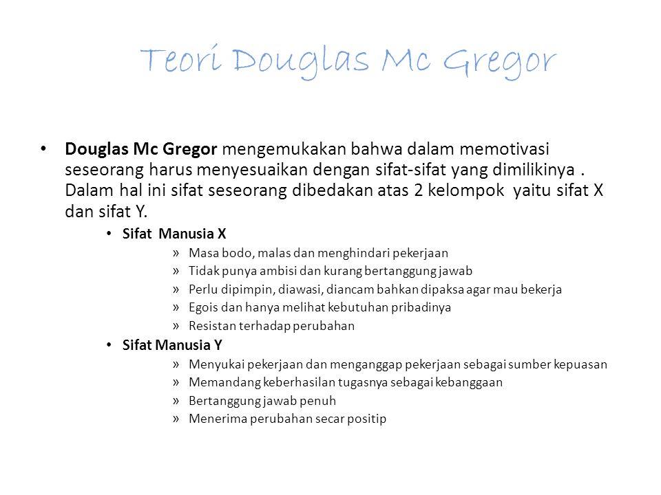 Teori Douglas Mc Gregor