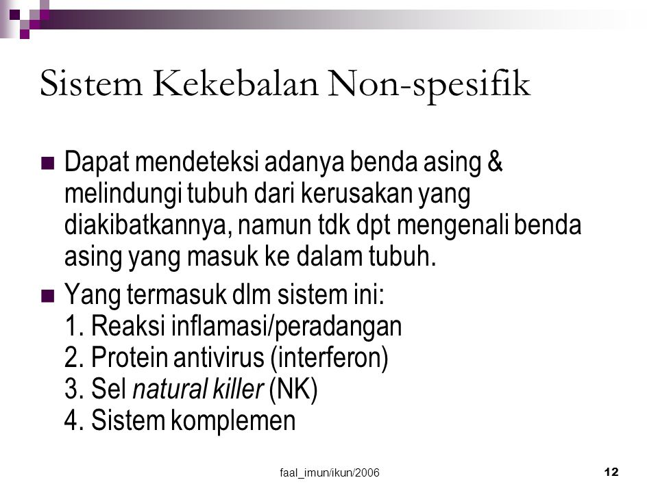 Sistem Kekebalan Non-spesifik
