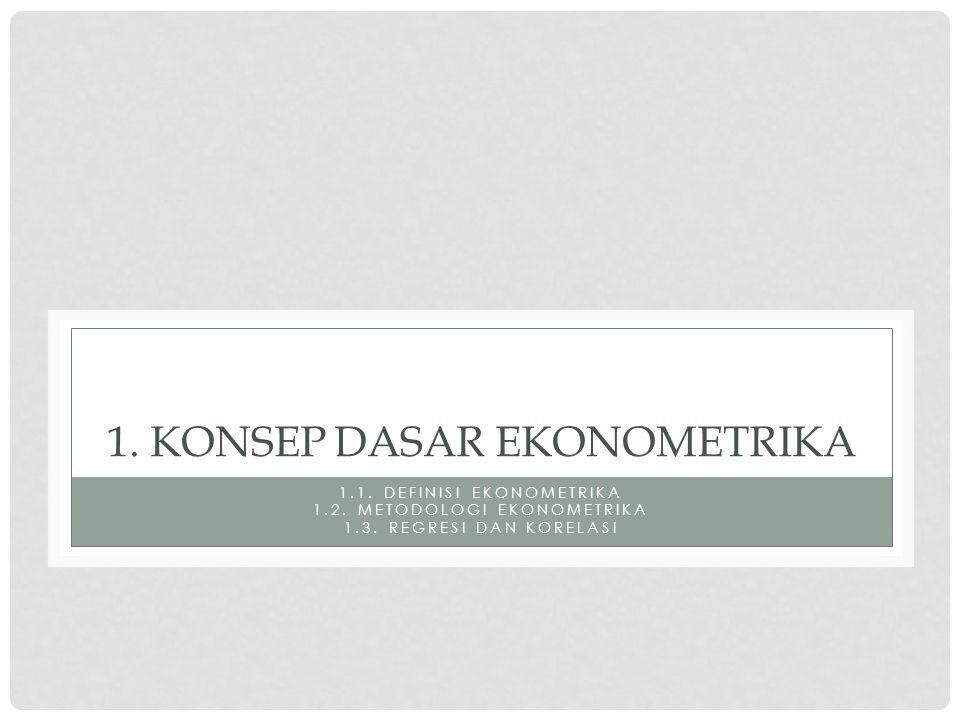 1. Konsep dasar ekonometrika