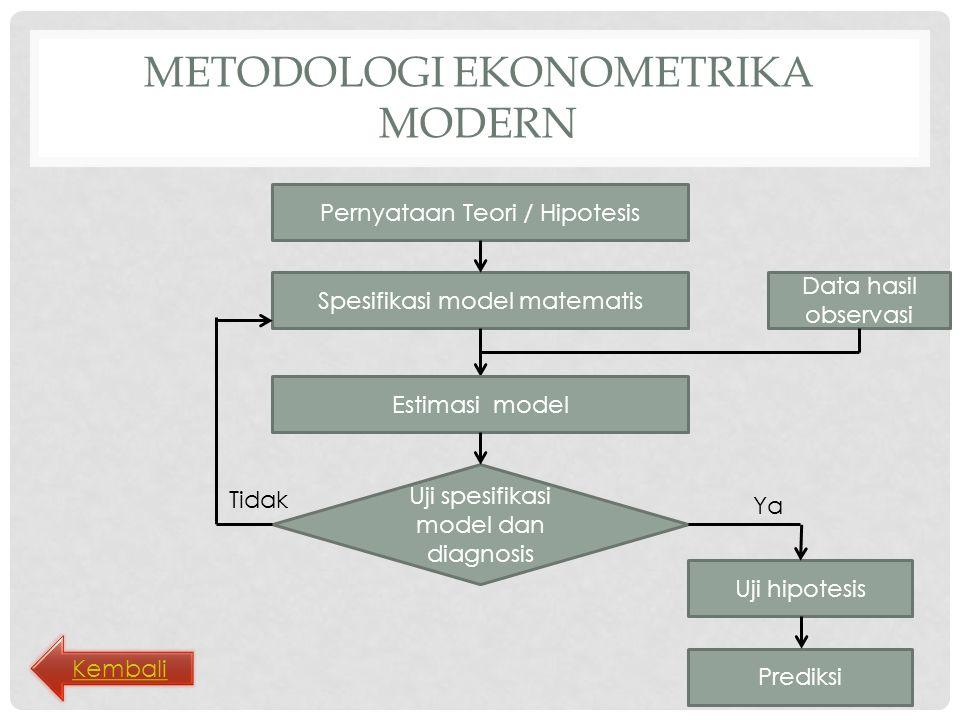 Metodologi ekonometrika modern