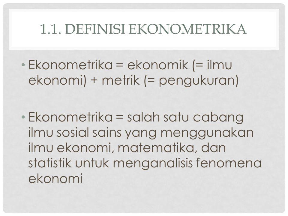 1.1. Definisi ekonometrika