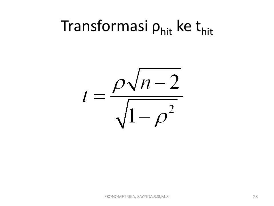 Transformasi ρhit ke thit