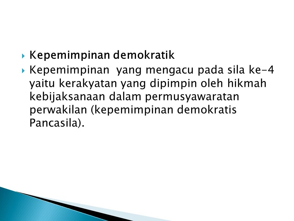 Kepemimpinan demokratik