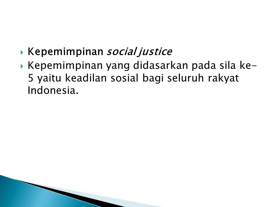 Kepemimpinan social justice