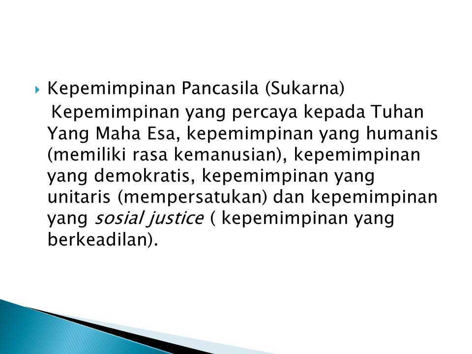 Kepemimpinan Pancasila (Sukarna)