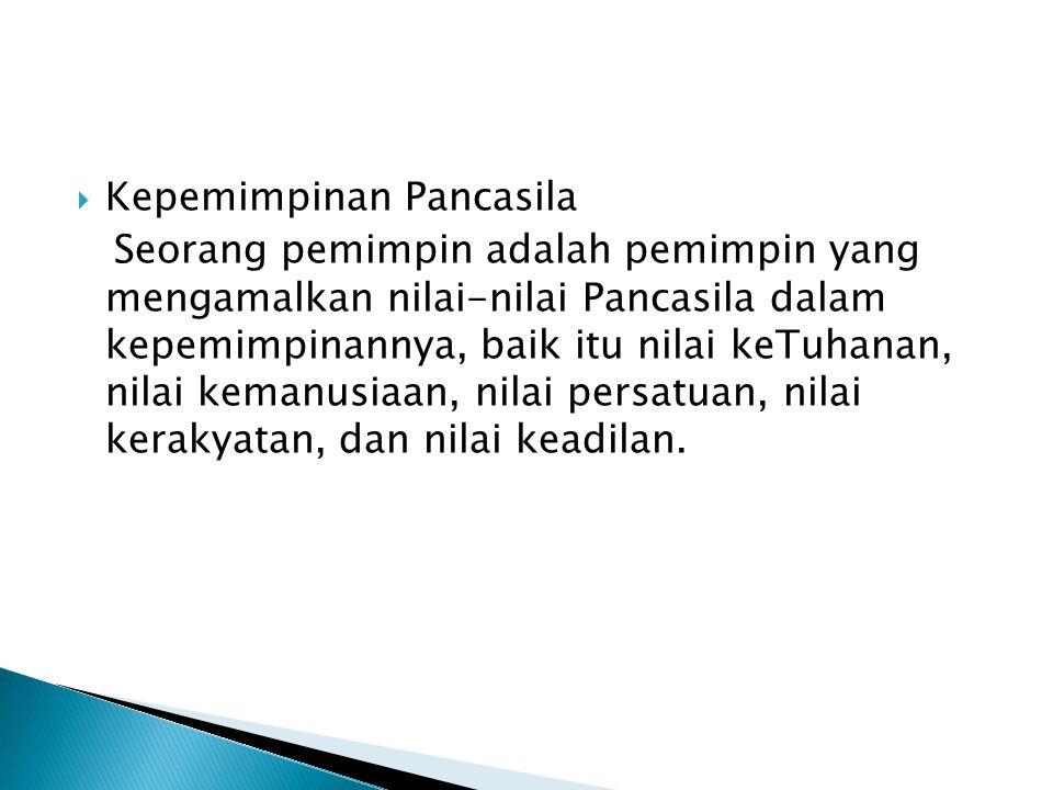 Kepemimpinan Pancasila