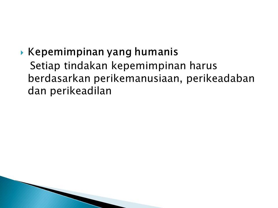 Kepemimpinan yang humanis