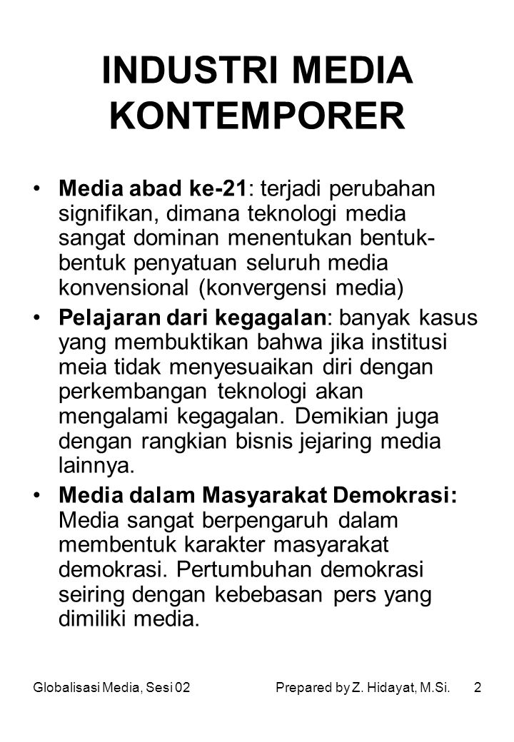 INDUSTRI MEDIA KONTEMPORER
