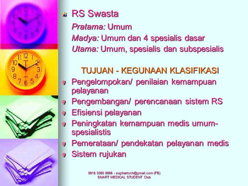 RS Swasta Pratama: Umum Madya: Umum dan 4 spesialis dasar