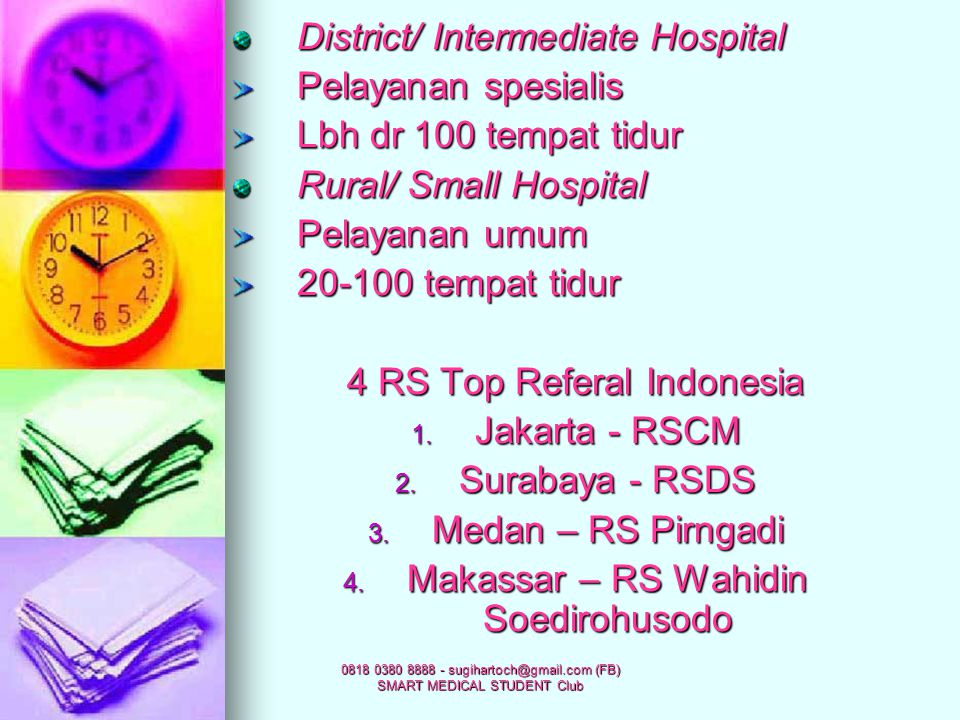 District/ Intermediate Hospital Pelayanan spesialis