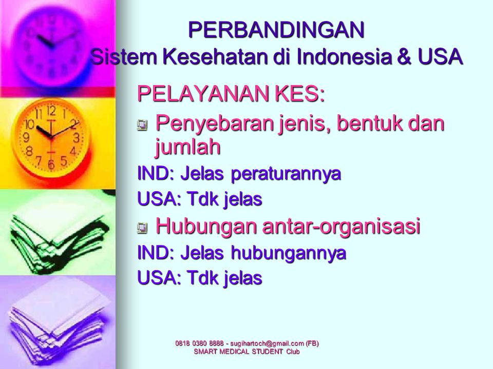 PERBANDINGAN Sistem Kesehatan di Indonesia & USA