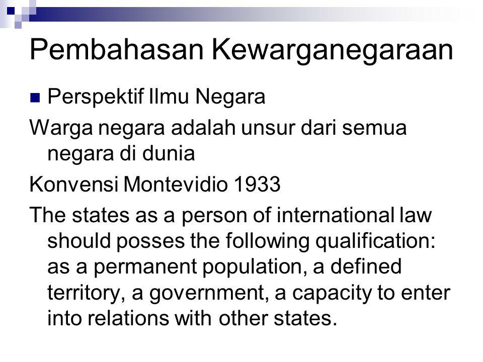 Pembahasan Kewarganegaraan