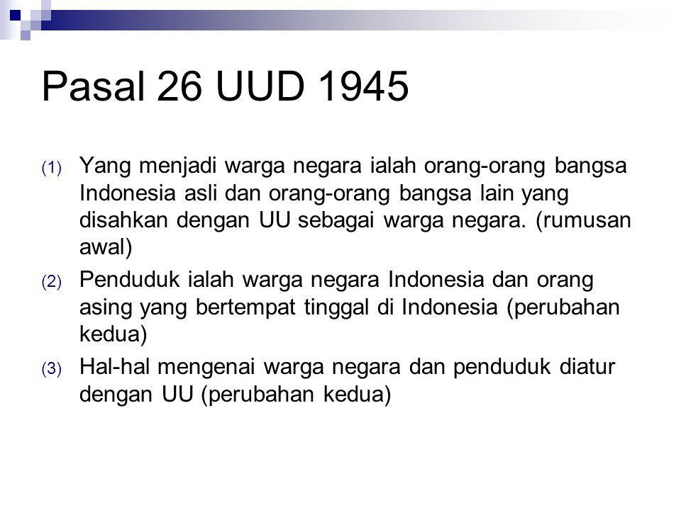 Pasal 26 UUD 1945