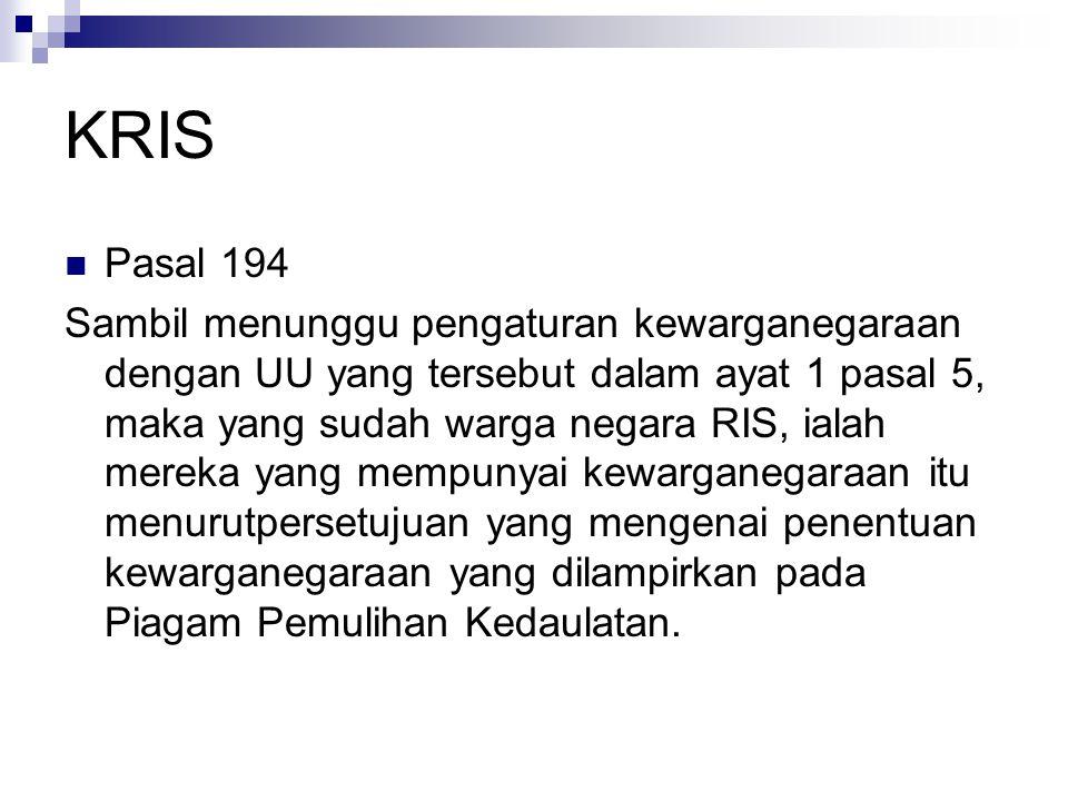 KRIS Pasal 194.