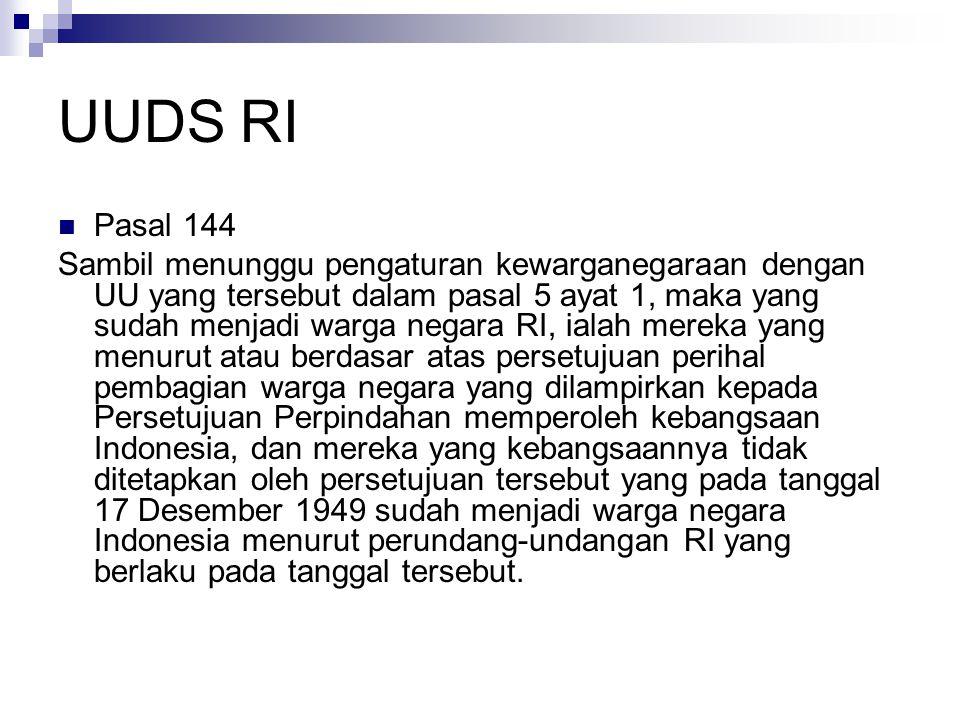 UUDS RI Pasal 144.