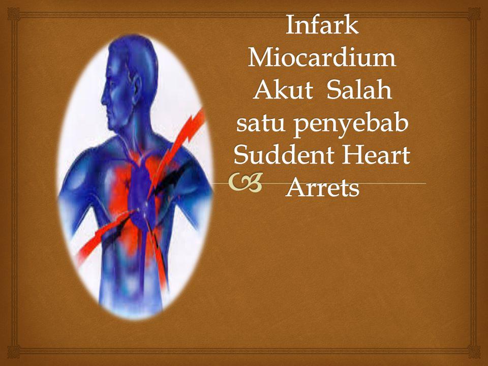Infark Miocardium Akut Salah satu penyebab Suddent Heart Arrets