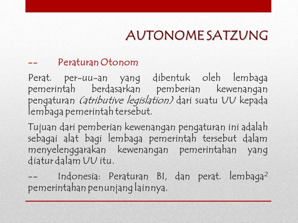 AUTONOME SATZUNG -- Peraturan Otonom
