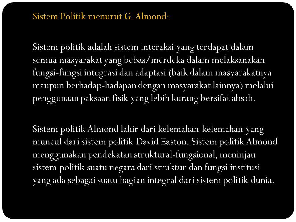 Sistem Politik menurut G