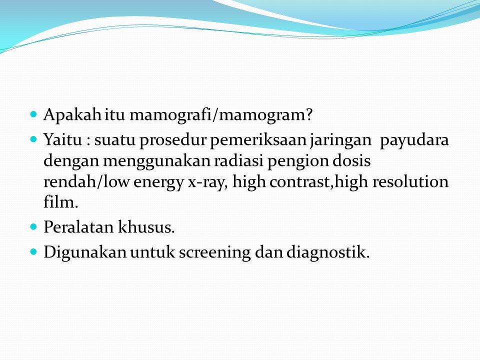 Apakah itu mamografi/mamogram