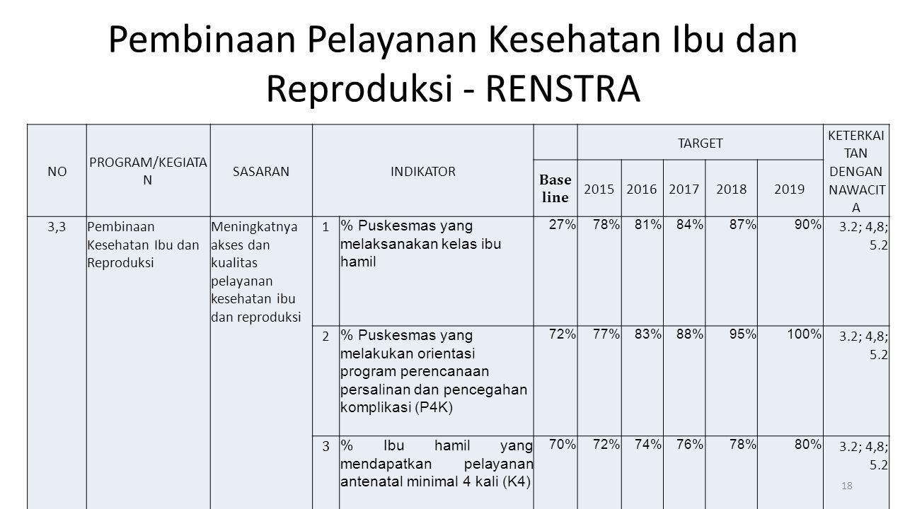 Pembinaan Pelayanan Kesehatan Ibu dan Reproduksi - RENSTRA
