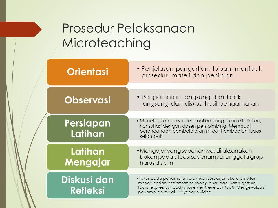 Prosedur Pelaksanaan Microteaching