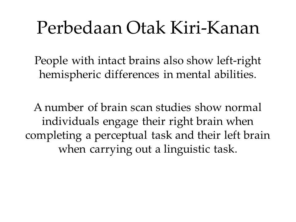 Perbedaan Otak Kiri-Kanan