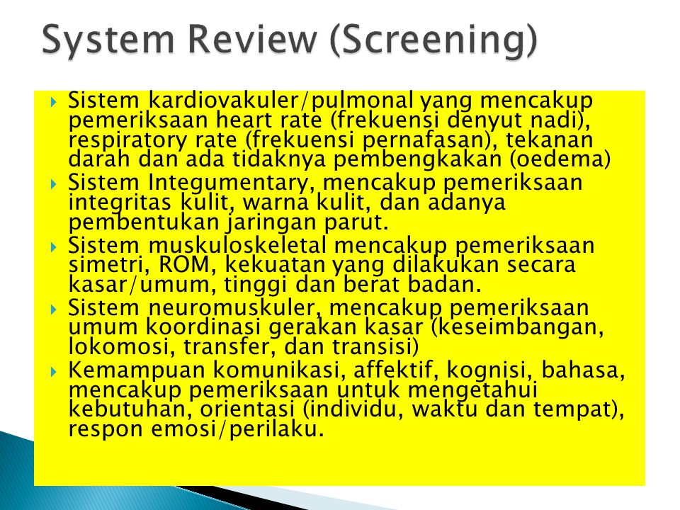 System Review (Screening)