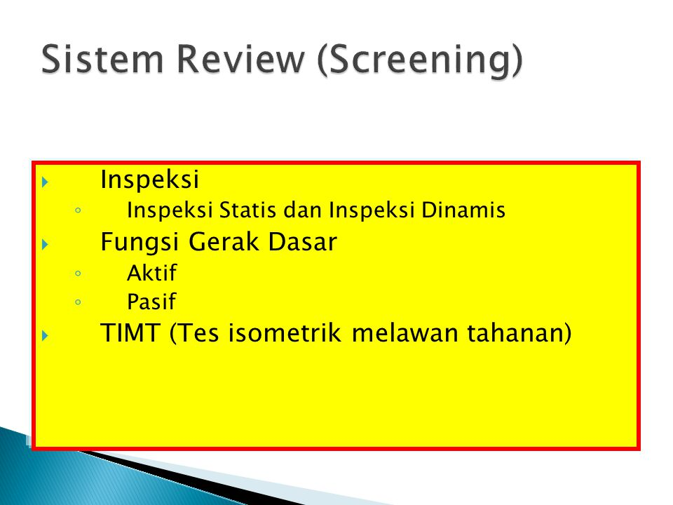 Sistem Review (Screening)