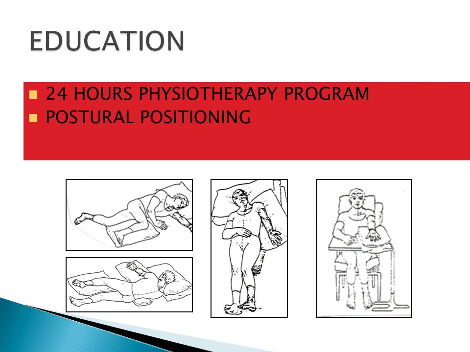 EDUCATION 24 HOURS PHYSIOTHERAPY PROGRAM POSTURAL POSITIONING