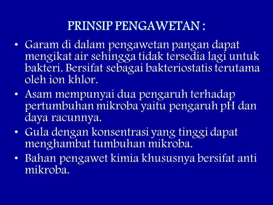 PRINSIP PENGAWETAN :