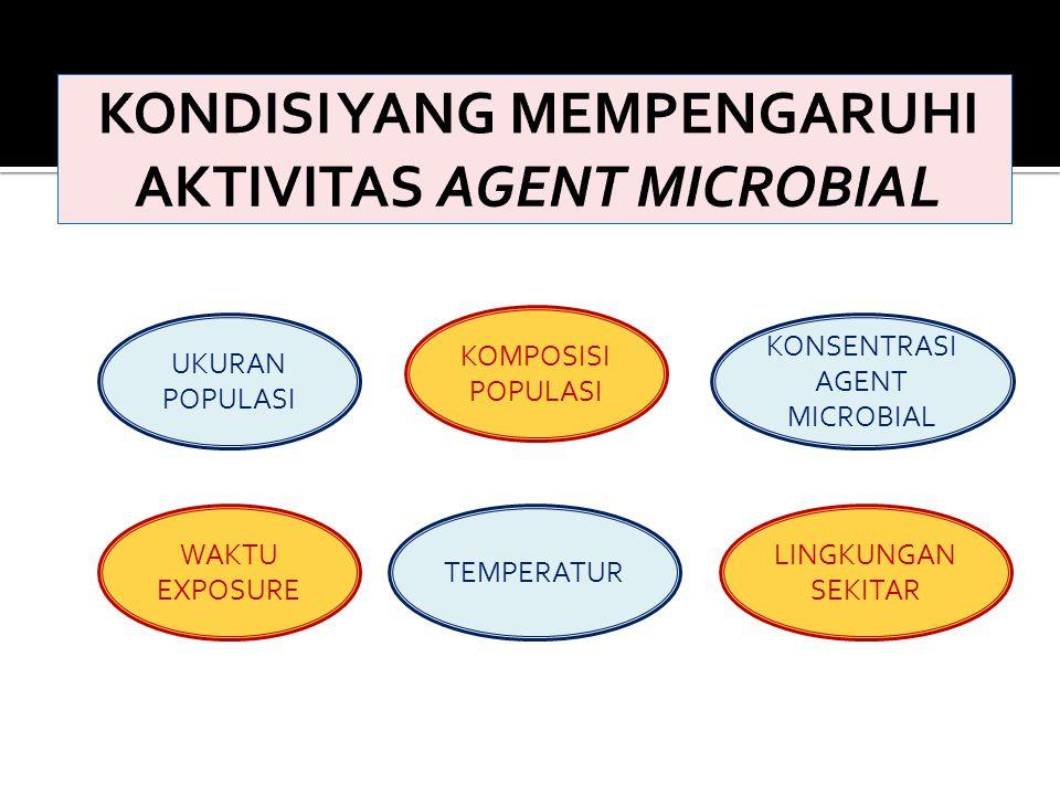 KONDISI YANG MEMPENGARUHI AKTIVITAS AGENT MICROBIAL