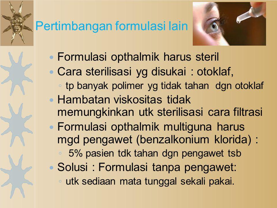 Pertimbangan formulasi lain